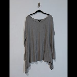 Mossimo Grey and White Striped Swing Hem Tunic | L
